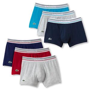 3er-Pack-LACOSTE-Herren-Boxershorts-Boxer-Trunks-Unterhosen-Colours