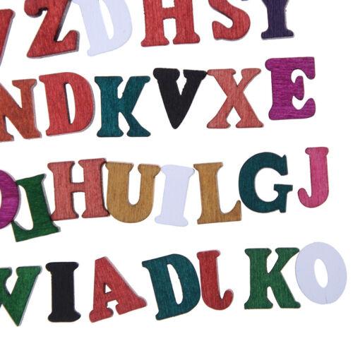 100X Letras Alfabeto De Madera Adorno Scrapbooking Cardmaking Craft Jp