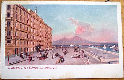 1920 Naples Napoli Italy Advertising Postcard Grand Hotel Du Vesuve Ebay