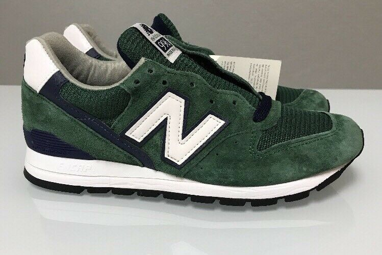 Uomo SZ 7 New Balance Running Shoes 996 Heritage MADE IN USA M996CSL White Green