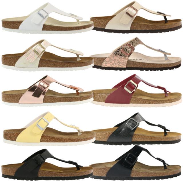 Birkenstock Gizeh Fringe BF W sandal brown gold
