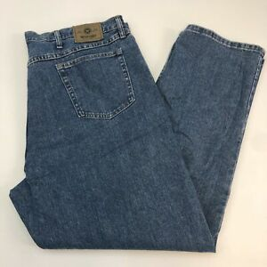Wrangler-Denim-Jeans-Mens-42X32-Blue-Straight-Leg-100-Cotton-Medium-Washed