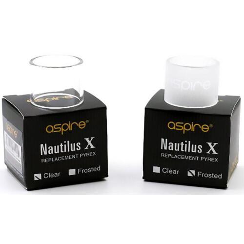 ORIGINALE ASPIRE NAUTILUS di ricambio x 2ml chiaro in PYREX-con Etichetta di sicurezza