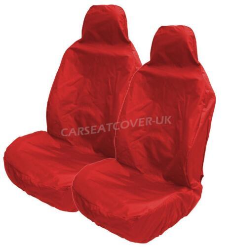 Rojo Impermeable De Asiento De Coche cubre Para Cubo escaños 2 X Frentes