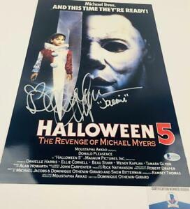 Danielle-Harris-signed-Halloween-11X17-METALLIC-photo-BAS-COA-H32919