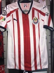 aa83dd8f5 Image is loading Chivas-Guadalajara-Authentic-Puma-Home-Jersey-2018-19-