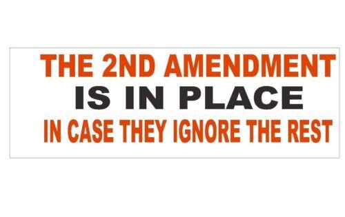 Anti Obama Gun Control 2nd Amendment Bumper Sticker or Helmet Sticker D266
