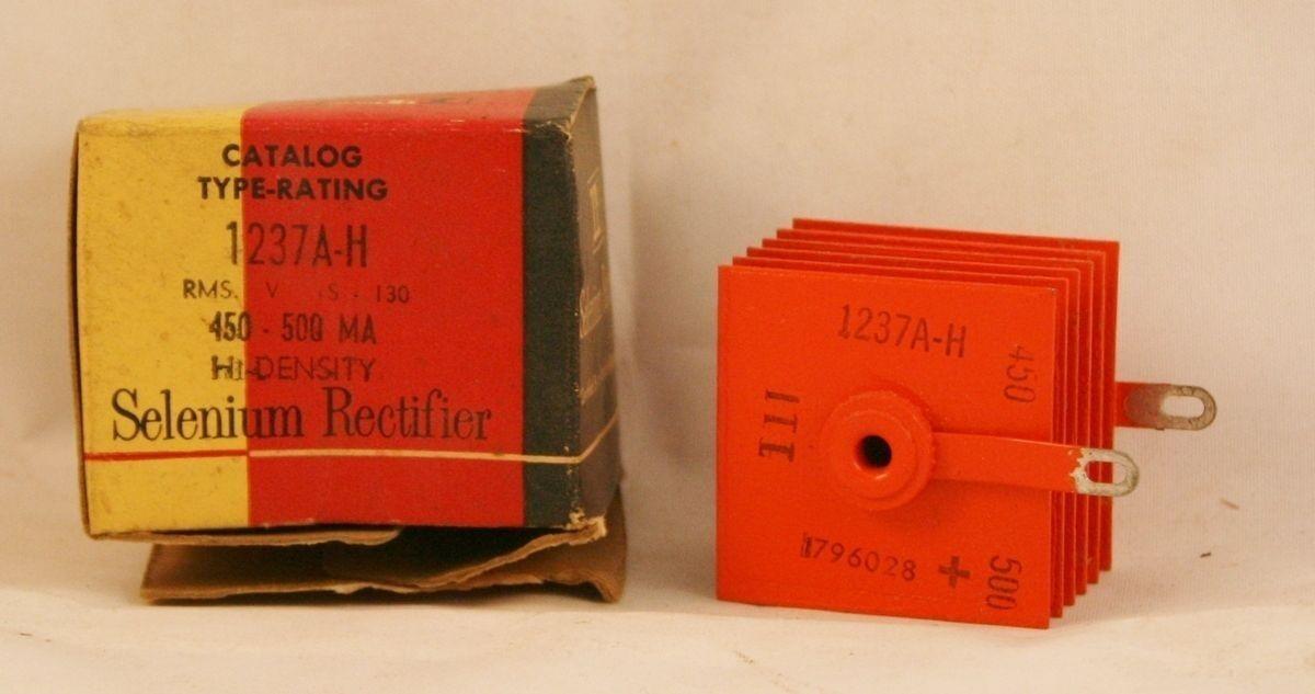 Vintage Nos Nib Itt 1237a-h Selen Gleichrichter 130 Volt RMS 450-500 G' Ma