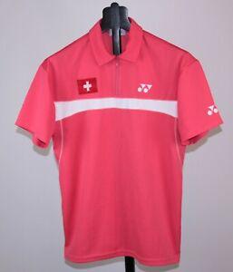 Vintage Switzerland Badminton team match worn shirt Yonex Size S/M