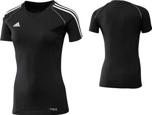 adidas-Damen-T-Shirt-Sport-Trainingsshirt-Laufshirt-schwarz-Gr-XS-M
