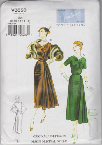 From UK Sewing Pattern Dress /& Belt 1951 style Size 8-16 # 8850
