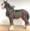 Large-Shire-Cart-Heavy-Horse-in-harness-ornament-figurine-Leonardo-gift-boxed miniatuur 5
