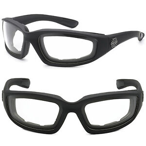 00a27326aec Image is loading Choppers-Wind-Resistant-Foam-CLEAR-Sunglasses-Sports- Motorcycle-