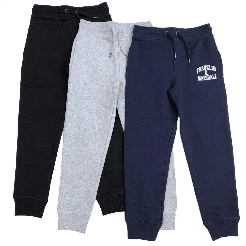size 40 75bd7 280e7 Dettagli su Franklin & Marshall Youths Pantaloni Tuta Nero,Grigio o Blu  Navy 7y Up To 1