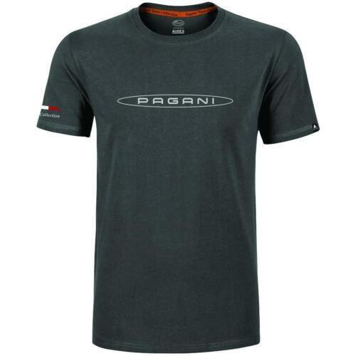 Pagani Team Collection Mens T-Shirt Tee Dark Grey 100/% Cotton Sizes S-XXXL