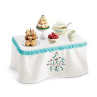 American Girl Caroline Table & Treats For 18 Doll Wood Furniture Caroline's