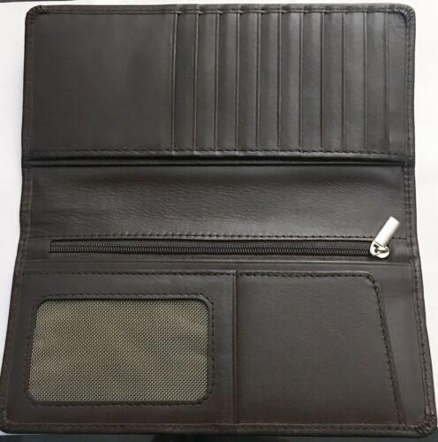 Brown Men/'s Genuine Leather Coat Wallet Black