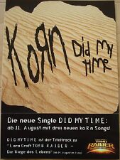 KORN  __  PROMO - STICKER / Aufkleber   __  SIZE  10,5 cm x 10,8 cm