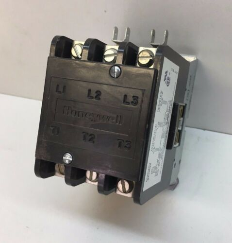 Honeywell R8220 R 1007 3-Pole Contactor 24V Coil 50A Inductive 60A Resistive