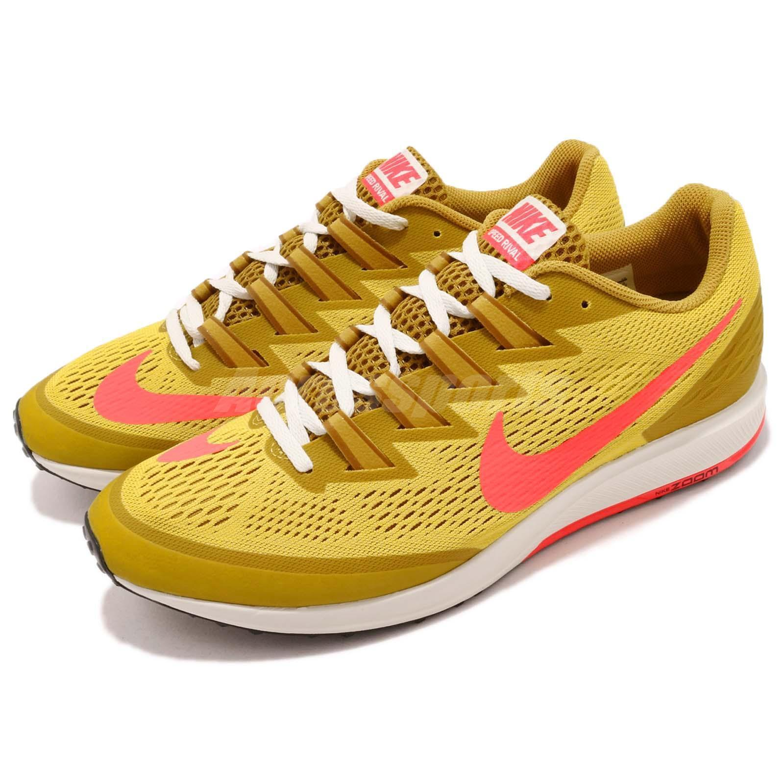 Nike Air  Zoom Speed Rival 6 Yellow Pink Mens Racing Running shoes 880553-706  sale outlet