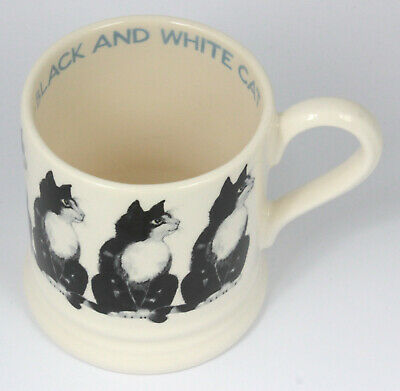 Black And White Cat Mug Half Pint