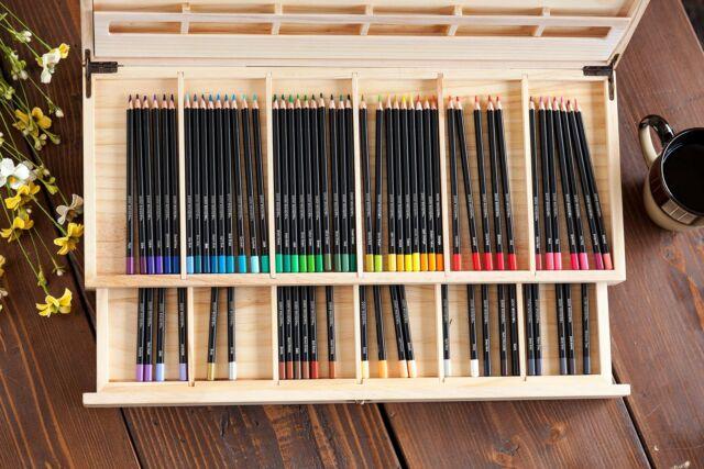 72ct Crayola Color Escapes Premium Adult Colored Pencils Art Set In Wooden Case
