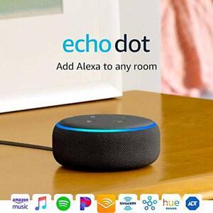 Echo-Dot-3rd-Gen-Smart-Speaker-WIth-Alexa-Charcoal-Brand-New-In-Box