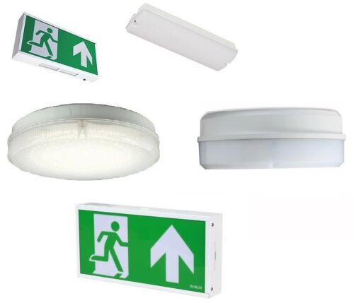 IP65 Emergency Surface Fittings Robus LED Exit Boxes LED Bulkheads IP20