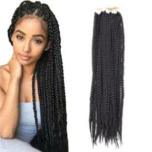 22 Synthetic Crotchet 3x Box Braids Senegalese Twist Crochet Hair