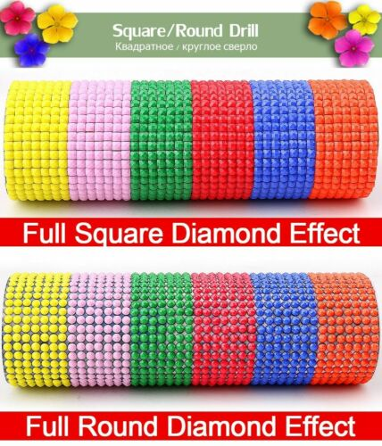 100/% Full Square//Round Drill Colored Eyes Diamond 5D DIY Painting Cross Stitch