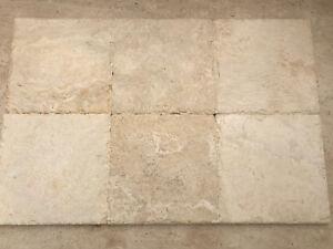 Piastrelle mosaico in pietra travertino per rivestimenti fine