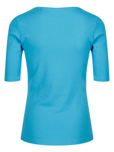 Marks /& Spencer Womens Pure Cotton 1//2 Sleeve Scoop Neck Top New M/&S T Shirt Tee