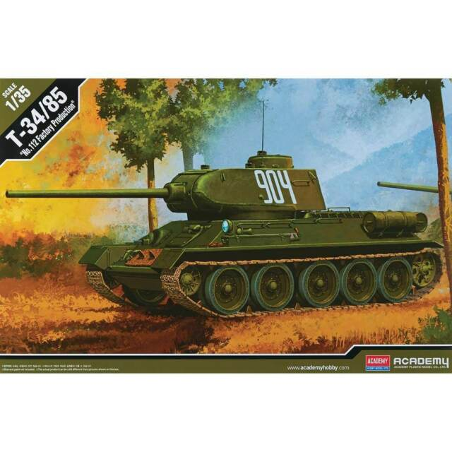 "Academy 1/35 T-34/85 ""112 Factory Production"" Plastic Model Kit 13290"