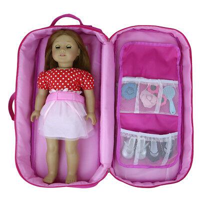 Doll Carrier Bag Kids Backpack School Bag with Pocket for 18 inch Girl Boy Doll
