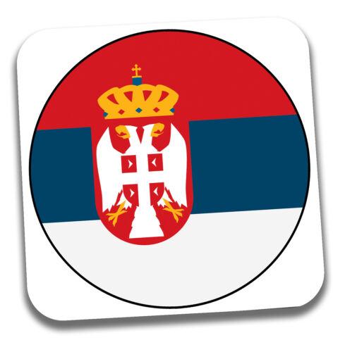 Serbie Serbe Drapeau boissons Coaster-Anniversaire-Cadeau-Stocking Filler