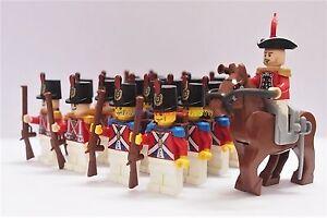 Napoleonic Wars Minifigure 20 x Red Coat Soldiers w General & Horse Custom Brand