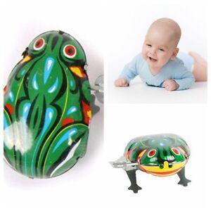 ba0e196f7808 Cute Clockwork Metal Frog Toys Children Jumping Frog Vintage Wind Up ...