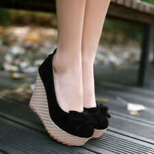 86f58dcd7a item 2 WOmen's girl High wedge Heels Round Toe ANkle Strap Platform Pumps  Bowknot Shoes -WOmen's girl High wedge Heels Round Toe ANkle Strap Platform  Pumps ...