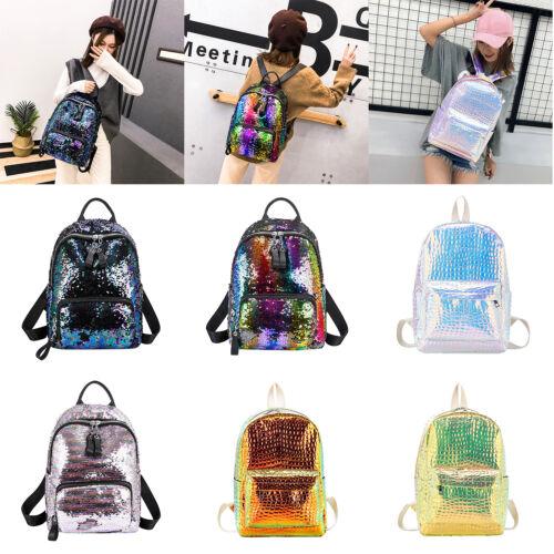 Glitter Backpack Women Sequins Travel Shoulder Bags Girls Casual School Bags