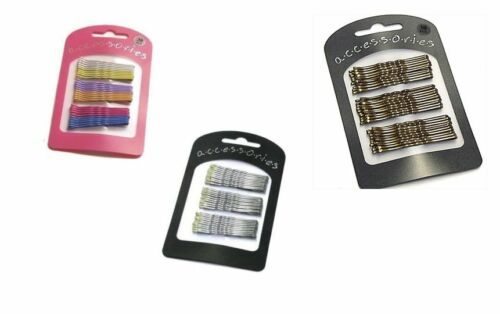 30Pcs Pastel Tone// Silver Metal Hair Pin Kirby Grip Slide Clip 5cm