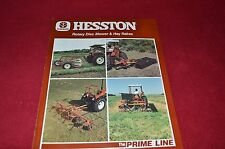 Hesston Rotary Disc Mower & Hay Rakes Dealer's Brochure 700707122 LCOH