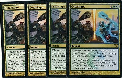 4 Cytoshape = Gold Dissension Mtg Magic Rare 4x x4