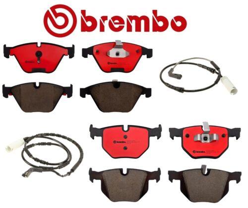 Front /& Rear Brembo Ceramic Brake Pad Set Wear Sensors For BMW E90 E92 E93 335i