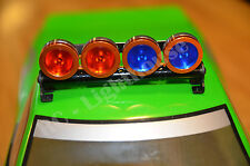 RC LED Light bar with RED and Blue  Lenses - 5 flashing modes - Aluminum-FZORRB