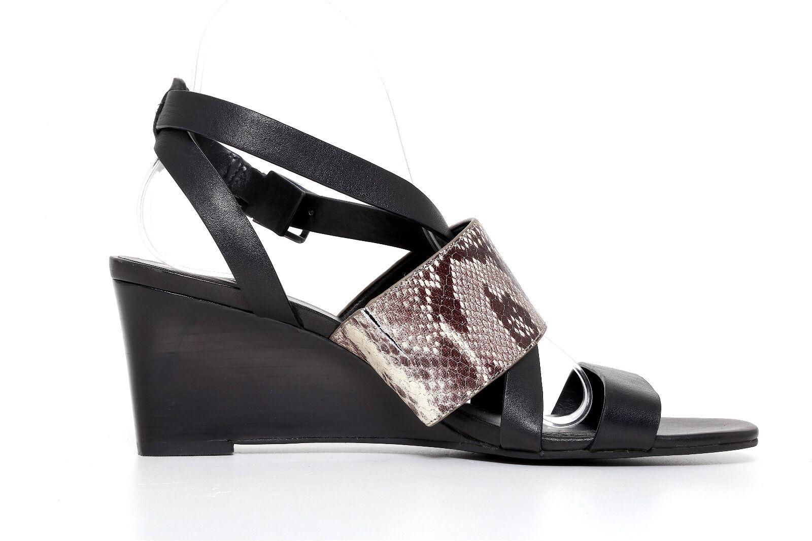 Cole Haan Women's Women's Women's Helena Snake Embossed Leather Wedge Sandal Size 9.5 B 1185 61bf89