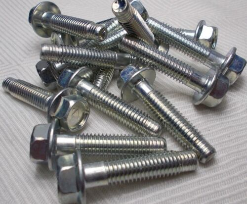 Details about  /M8 8mm X 1.25 Coarse X 30mm Thread Hex Flange Head Bolt Lot Of 15 Bolts