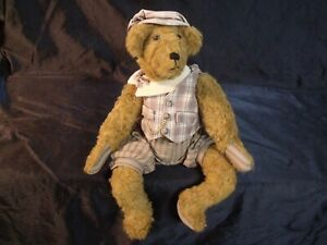 ADORABLE-VINTAGE-MOHAIR-14-034-STEIFF-SITTING-TEDDY-BEAR-WITH-OUTFIT