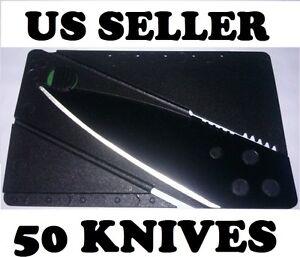 Bulk-Reseller-Lot-of-50-Credit-Card-Knives-Pocket-Thin-Tactical-Blade-Tool-Razor