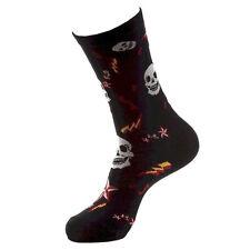 BETSEY JOHNSON Casual Socks, Ladies SZ 9-11 Skull & Lightning Rockabilly Black