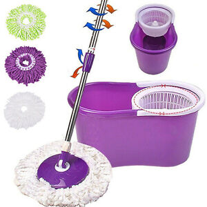 Household-Magic-Replacement-Refill-360-Spin-Cleaning-Pad-Microfiber-Mop-Head-JB